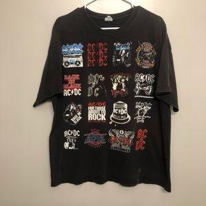 AC/DC album cover band t shirt black distressed